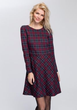 c030d9c0bf10 Modro-vínové kárované košeľové šaty s opaskom Dorothy Perkins značky ...
