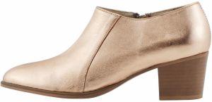 a9d6b1c314 Lesklé sandále v ružovozlatej farbe na širokom podpätku OJJU značky ...