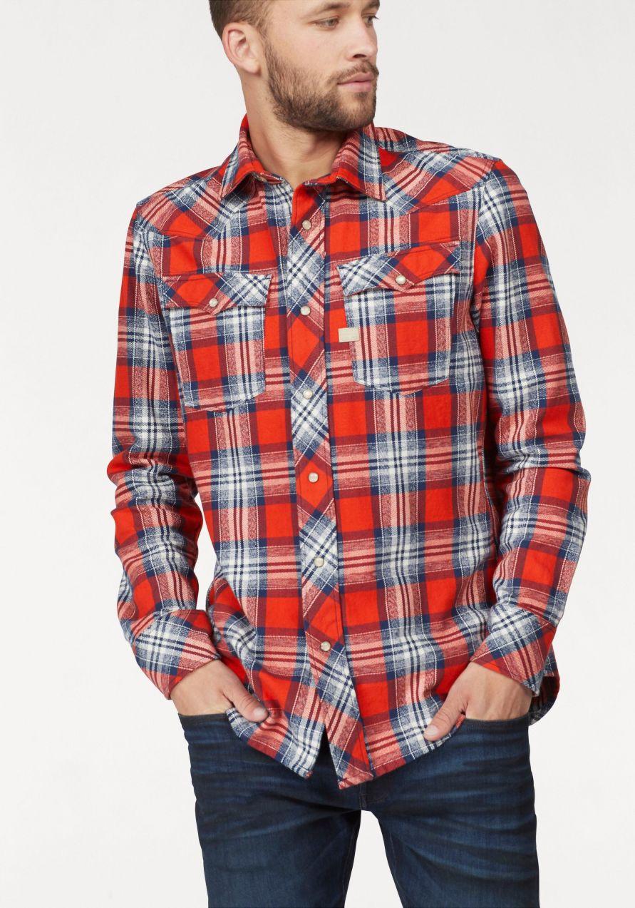 34500b6a42e9 G-Star RAW Kockovaná košeľa »3301 shirt l s« G-star raw značky G ...