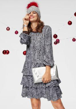 f3a4c67d3d19 Sivé dlhé šaty s okrúhlym výstrihom ICHI Lalulu značky ICHI - Lovely.sk