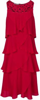1fcdb398ec52 Červené puzdrové šaty s čipkou Lipsy značky Lipsy - Lovely.sk