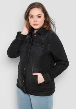 sheego Denim Riflová bunda Sheego