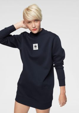 G-Star RAW Mikinové šaty »Bilbi box logo funnel sw dress wmn l/s« G-Star RAW