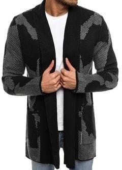 23619dd7f130 Elegantný čierny sveter pre pánov so záplatami na lakťoch - Lovely.sk