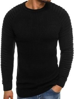 942b96a44557 Módny čierny pánsky sveter MADMEXT 2028 - Lovely.sk