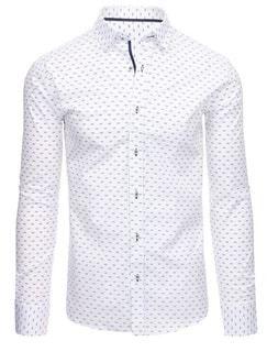 0d6ad341bc5e Biela pánska košeľa s nenápadným vzorom - Lovely.sk