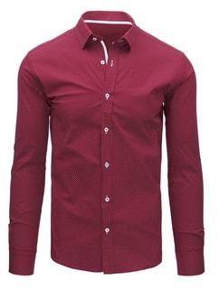 4cf2d8458176 Biela košeľa s červeno - modrými pásmi SLIM FIT - Lovely.sk
