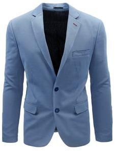 82e361759055b Nebesky modré pánske sako s jemným vzorom - Lovely.sk
