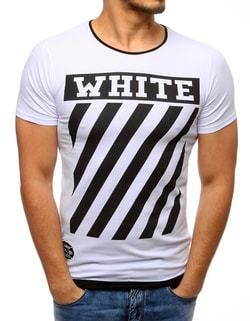 3f01d503a716 WHITE biele pánske tričko - Lovely.sk