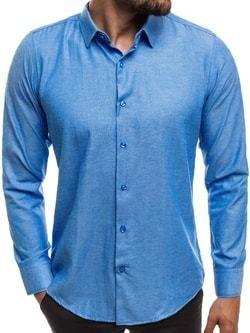 27445a62d8dc Jednoduchá nebesky modrá košeľa MECH 2122