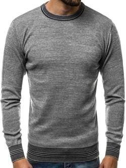 6f44496552d7 Šedý sveter s maskáčovým vzorom - Lovely.sk