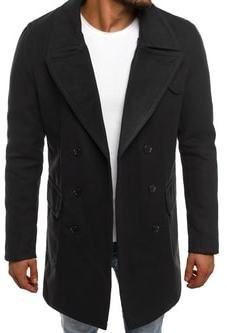 Čierny pánsky kabát - Lovely.sk 35e921aec91