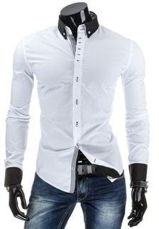 88a5c0dc77d3 Štýlová a elegantná pánska košeľa v bielej farbe - Lovely.sk