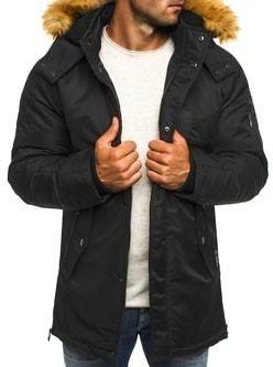 155f8df03 Čierna zimná bunda s kapucňou J.STYLE 3097 - Lovely.sk