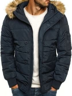 Zimná granátová bunda pre pánov s kožušinovou kapucňou J.STYLE 3098 ... 7688d8b9a9d