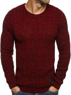 158022703757 Vášnivý čierno-červený pletený pánsky sveter BLACK ROCK 18027 ...