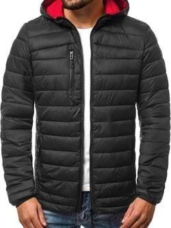 Čierna pánska prešívaná bunda OZONEE JS LY15 - Lovely.sk c5e1fb8a908