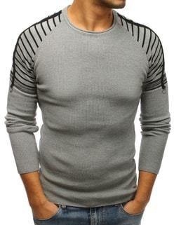 ad62037c5371 Moderný pánsky sveter šedý - Lovely.sk