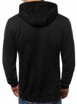 Štýlová čierna mikina pre pánov OZONEE JS 33020 - Lovely.sk 98403aec68c
