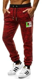 Pohodlné pánske červené tepláky OZONEE JS 55036 - Lovely.sk 1d7b3d22cc