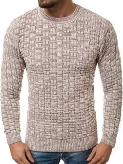616d0f5f20fe Dizajnový bordový predĺžený sveter BREEZY B9016S - Lovely.sk