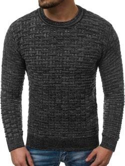 d002171fa818 Atraktívny čierny sveter so záplatami - Lovely.sk
