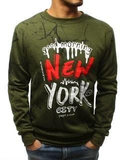 52949b9042b Pánska zelená mikina NEW YORK - Lovely.sk