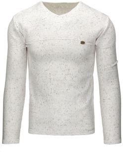 694313c4ffa0 Elegantný biely pánsky sveter - Lovely.sk
