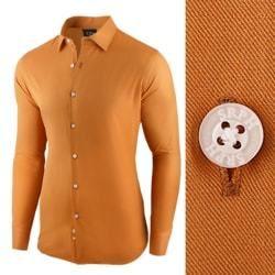 7b8696c067eb Pánska košeľa ťaviej farby s dlhým rukávom - Lovely.sk