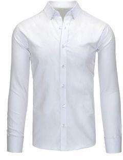 bf1ca208d4c7 Klasická biela pánska košeľa slim fit strihu - Lovely.sk