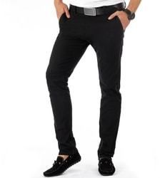f28a76ecd9 Elegantné čierne pánske chino nohavice - Lovely.sk