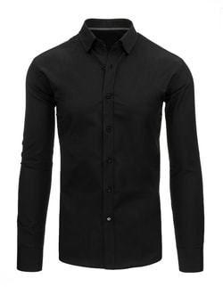 1b30ce342c4e Klasická čierna pánska košeľa - Lovely.sk