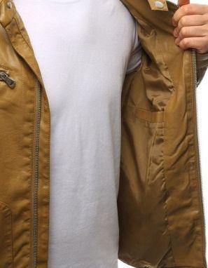 aecd52c26 Koženková bunda v kamelovej farbe - Lovely.sk