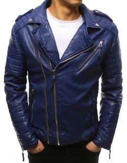 302938803 Motorkárska koženková modrá bunda - Lovely.sk