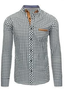 7087acaa7df7 Elegantná čierno-biela kockovaná košeľa pre pánov - Lovely.sk