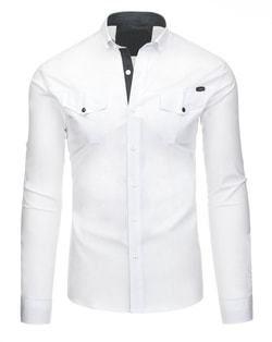 0e09261ad71f Štýlová pánska košeľa v elegantnej bielej farbe - Lovely.sk