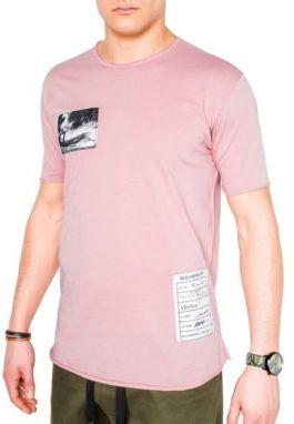 25007cc43f19 Fantastické pánske tričko s1005 ružovo-modré - Lovely.sk