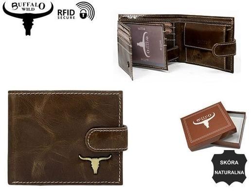 f81a2256e8 Moderná hnedá pánska peňaženka Buffalo - Lovely.sk