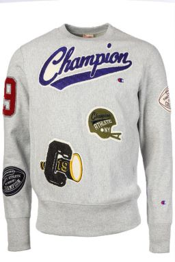 Champion Mikina Reverse Weave Allover Patch Crewneck