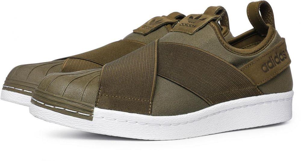 adidas Originals Tenisky Superstar Slip-on Trace Olive značky adidas  Originals - Lovely.sk 338336db37d