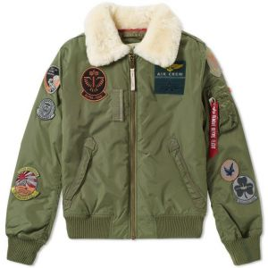 Alpha Industries Injector III Patch Shearling Bunda Sage Green