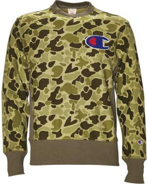 Champion Mikina Reverse Weave Allover Logo Army