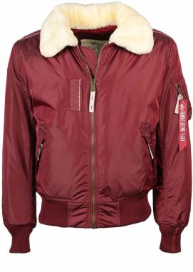 Alpha Industries Injector III Shearling Bunda Burgundy