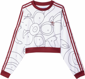 adidas Originals x Rita Ora Crop Mikina Color Paint