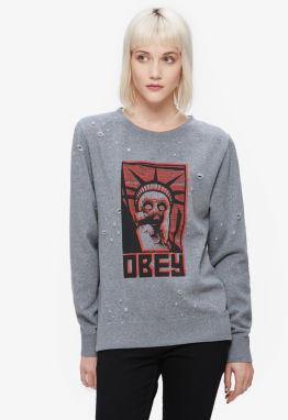 OBEY Obey Mikina Lady Liberty