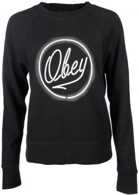 OBEY Obey Mikina Obey Neon Black
