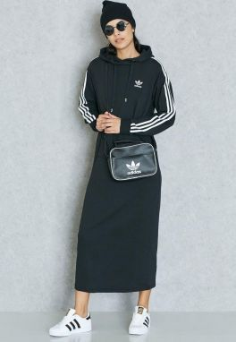 adidas Originals Šaty 3-Stripes Hoodie Dress