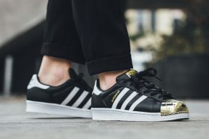 adidas Originals Tenisky Superstar 80s Black/Gold Metal Toe