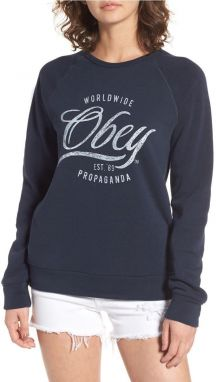 OBEY Obey Mikina Note Script Navy