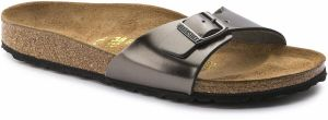 BIRKENSTOCK Birkenstock Šlapky Madrid Natural Leather Metallic Anthracite